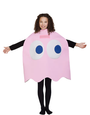 Otroci Pinky Ghost Costume - Pac-Man