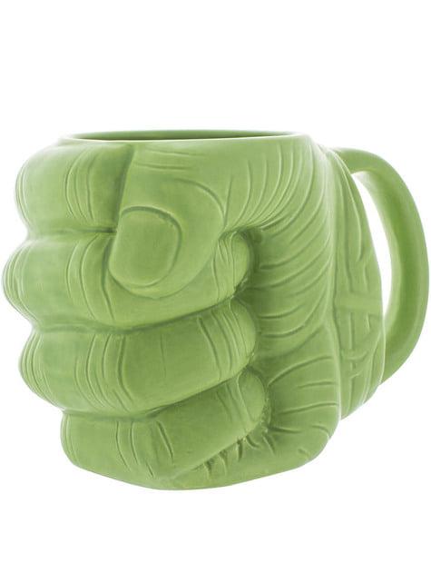 3D hrnek ve tvaru pěsti Hulk