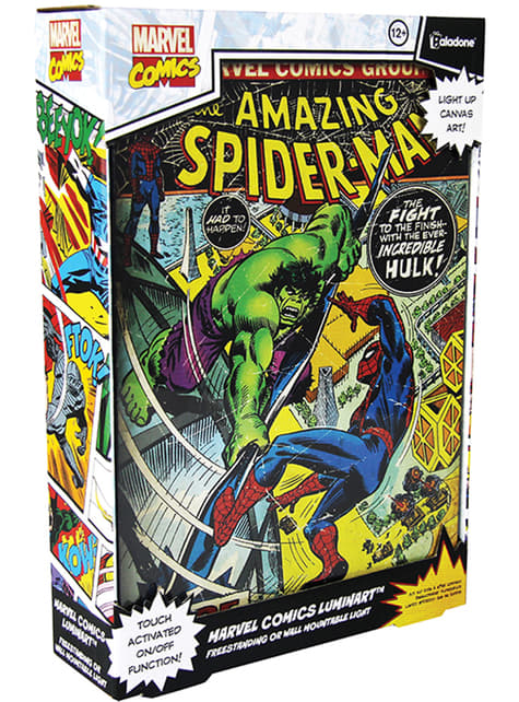 Quadro artwork retroiluminado de Marvel Comics