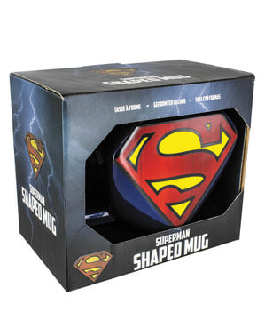Taza de Superman logo 3D