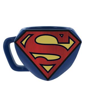 Taza de Superman logo 3D