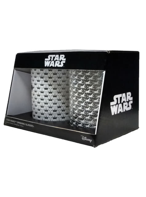 Juego de 2 vasos estampados de Star Wars