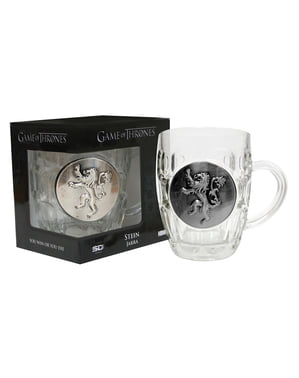 Sejdel i glas Game of Thrones sköld metallic Lannister
