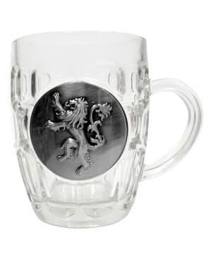 Game of Thrones metal Lannister skjold glas krus