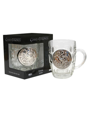 Chope Gams of Thrones symbole métallique Targaryen