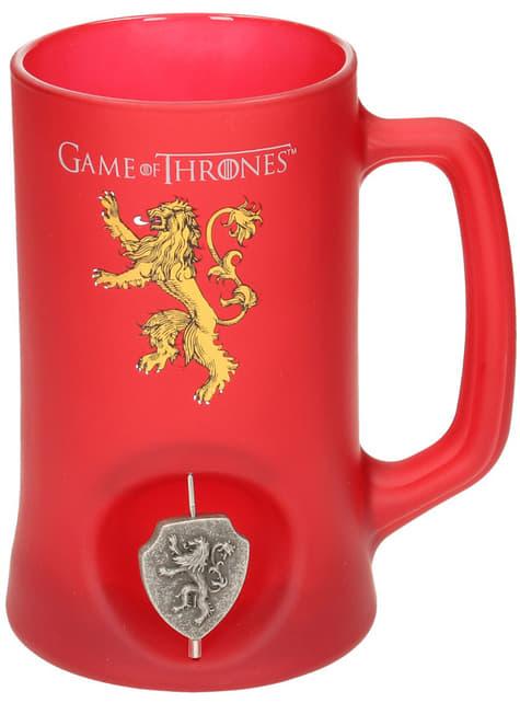 Jarra de Juego de Tronos Lannister emblema giratorio 3D