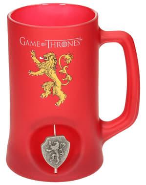 Caneca de Game of Thrones Lannister emblema giratório 3D