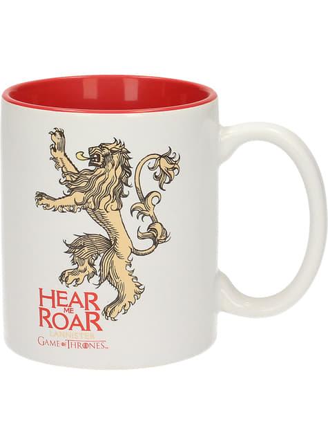 Taza de Juego de Tronos Lannister roja