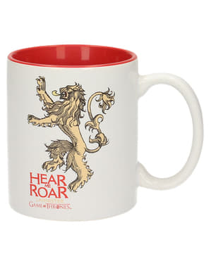 Mug Game of Thrones Lannister rouge