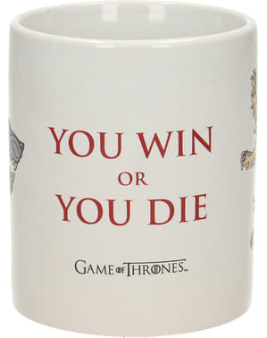 Caneca de Game of Thrones You win or you die
