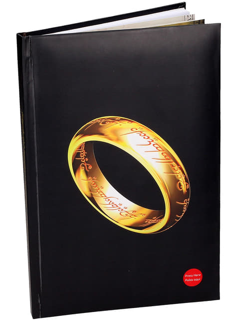 Large Lord of the Rings notebook with light 19 x 29 cm