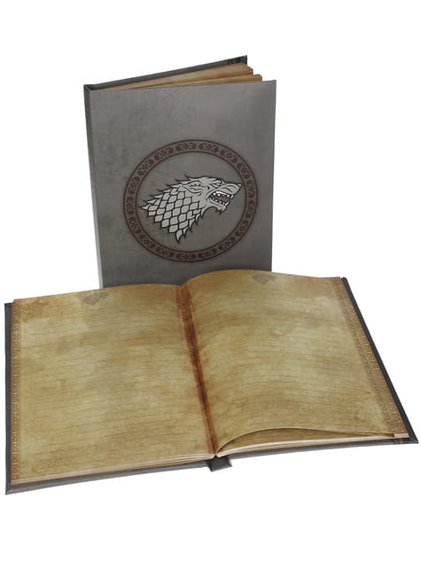 Carnet Game of Thrones Logo Stark lumineux