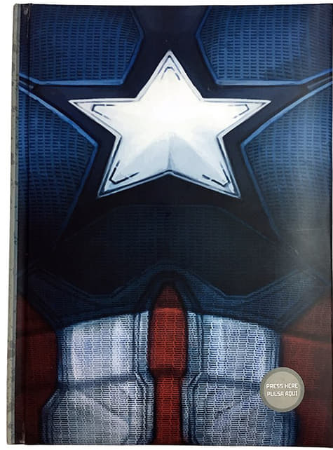 Captain America: Civil War notebook with light