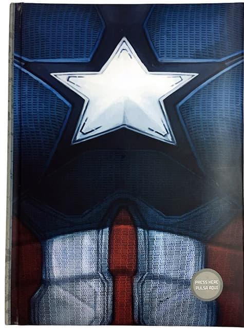 Libreta de Capitán América: Civil War con luz - oficial