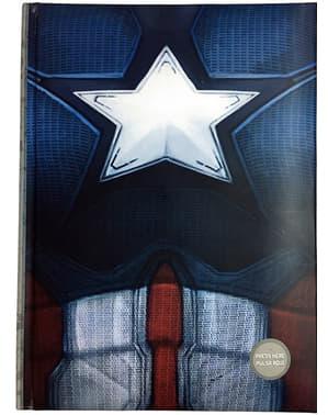 Libreta de Capitán América: Civil War con luz