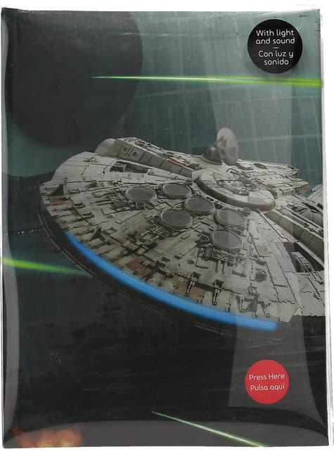Libreta de Star Wars Halcón Milenario con luz y sonido - oficial