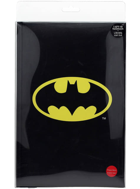 Large Batman notebook with light 19 x 29 cm
