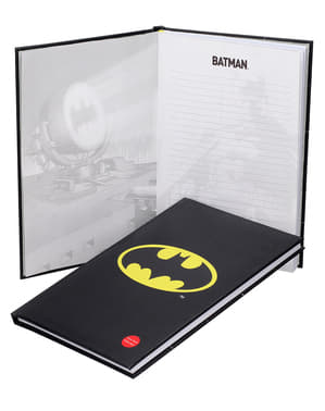 Large Batman notebook with light 19 x 29 cm