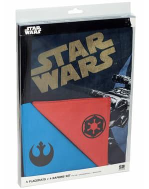 Jogo de toalhas de mesa individuais e guardanapos Star Wars