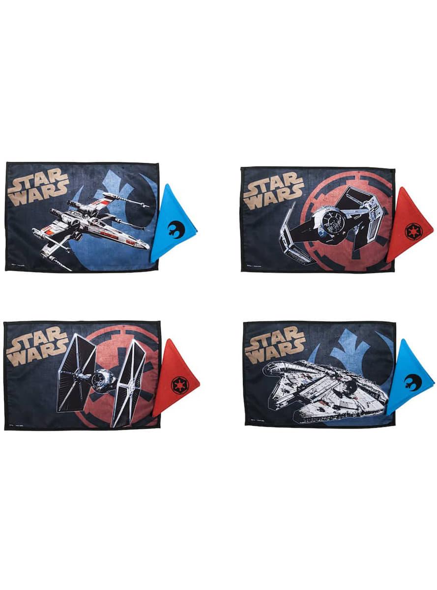 Ensemble de 4 sets de table et 4 serviettes star wars for Ensemble nappe et serviette de table