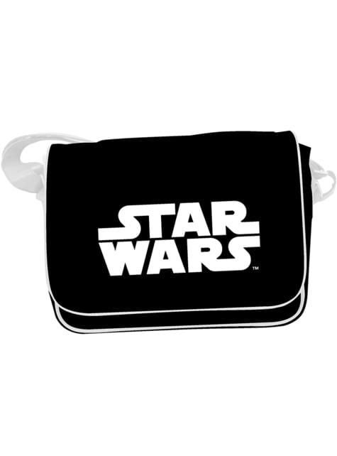 Mala a tiracolo de Star Wars Logo em branco e preto