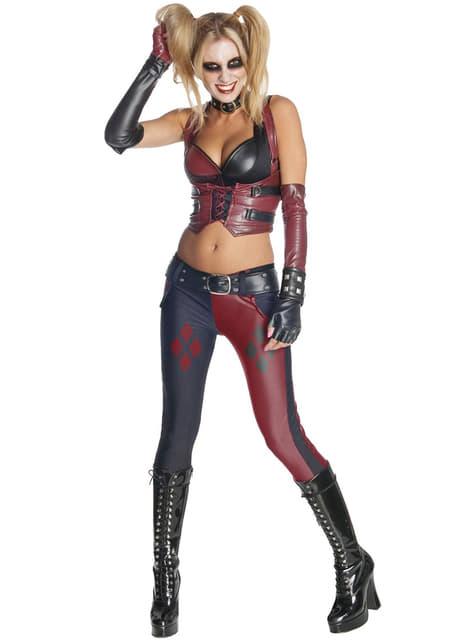 Fato de Harley Quinn para mulher Arkham City