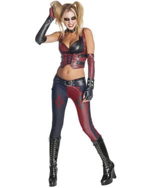 Déguisement de Harley Quinn pour femme Arkham City