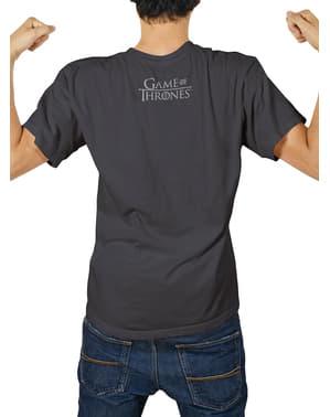 Game of Thrones Logo metallic Stark t-shirt kemasan premium