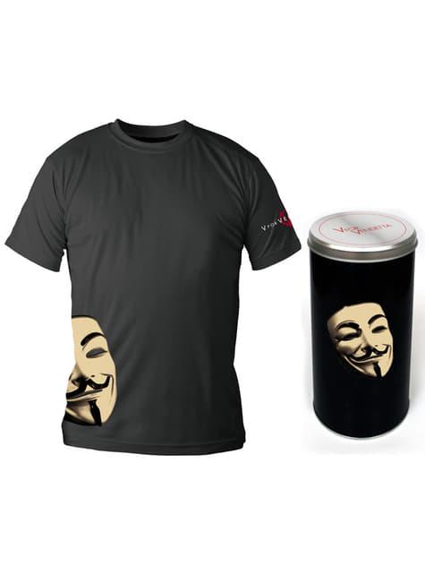 T-shirt de V de Vingança Máscara