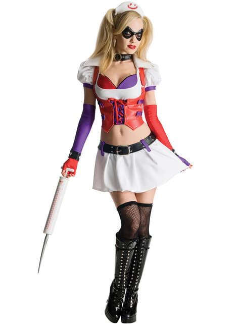 Kostium Harley Quinn Arkham City Asylum dla kobiet