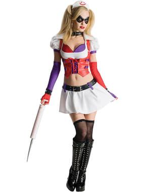 Costum Harley Quinn Arkham Asylum pentru femeie