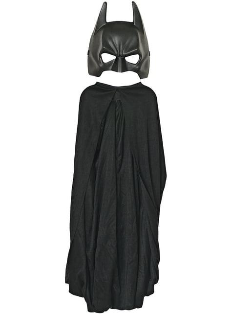 Maschera Batman per bambino con mantello