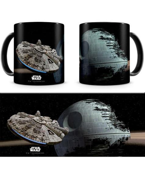 Mug Star Wars Faucon Millenium et Étoile de la Mort