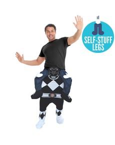 Disfraz de Power Ranger negro Ride on para adulto
