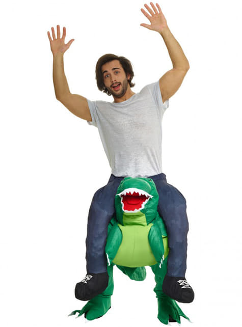 Déguisement porte moi sur les épaules d'un dinosaure