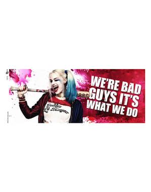 Šálka žmurkajúcej Harley Quinn