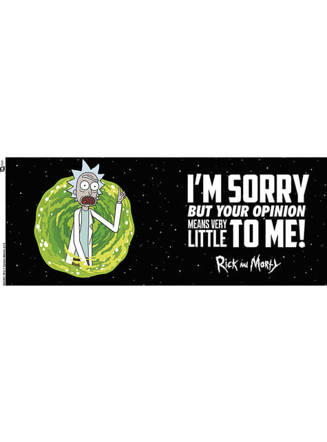 Taza de Rick y Morty Your Opinion - oficial