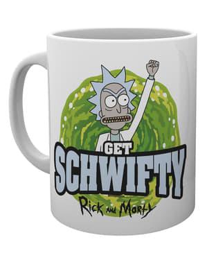 Taza de Rick y Morty Get Schwifty