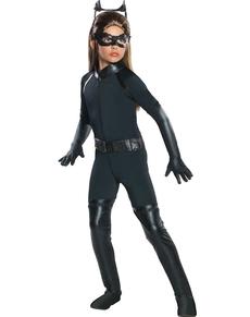 Mädchenkostüm Deluxe Catwoman