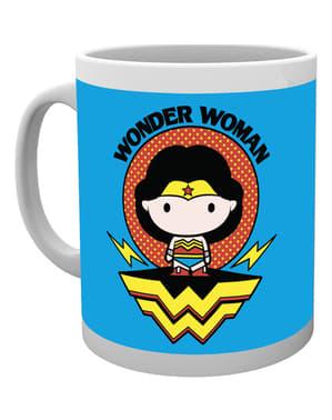 Hrnek Liga spravedlnosti Wonder Woman karikatura