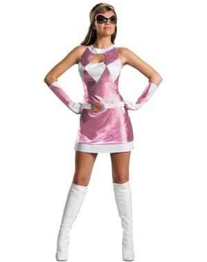 Fato de Power Rangers cor-de-rosa sexy
