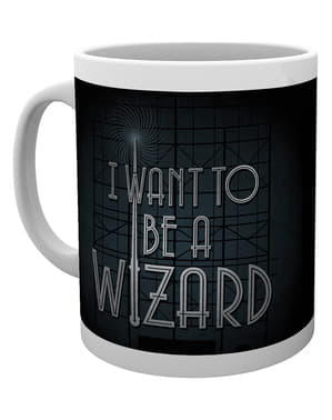 Mugg Fantastiska vidunder och var man hittar dem I want to be a Wizard
