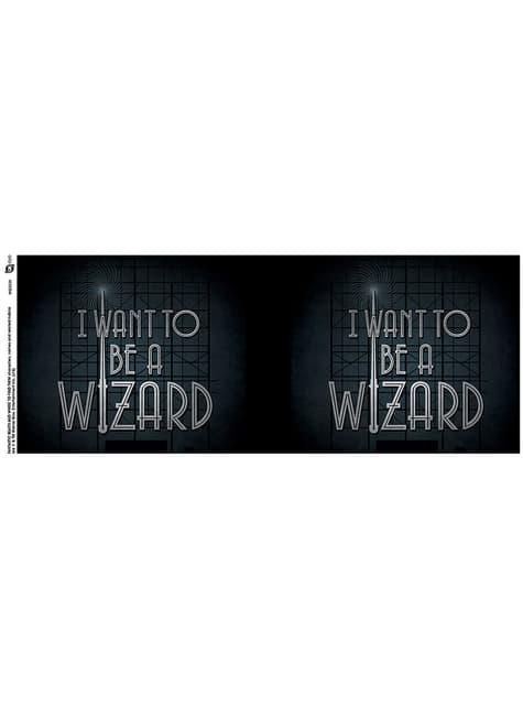 Taza de Animales fantásticos I want to be a Wizard - oficial