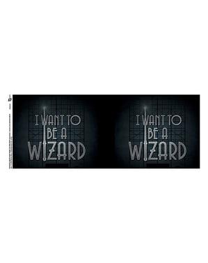 Caneca de Monstros Fantásticos e Onde Encontrá-los I want to be a Wizard