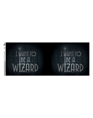Taza de Animales fantásticos I want to be a Wizard