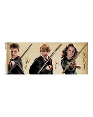 Hrnek Harry Potter s hůlkami