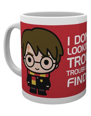 Harry Potter for og bag krus