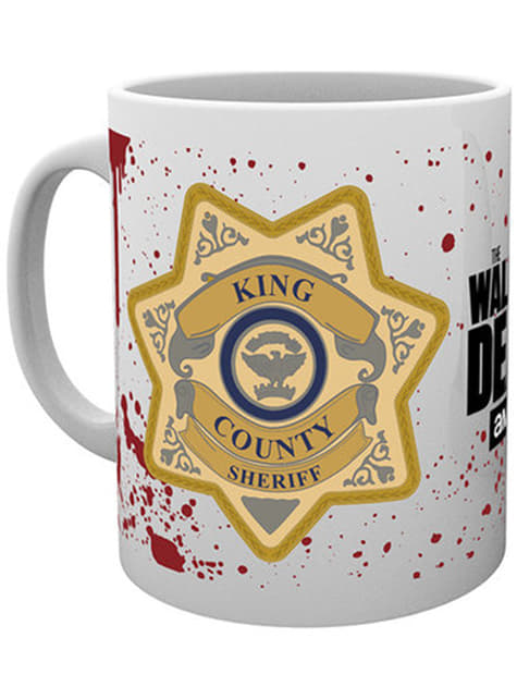 Taza de The Walking Dead Sheriff Badge