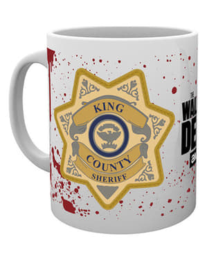 Tasse Walking Dead Sheriff-Plakette