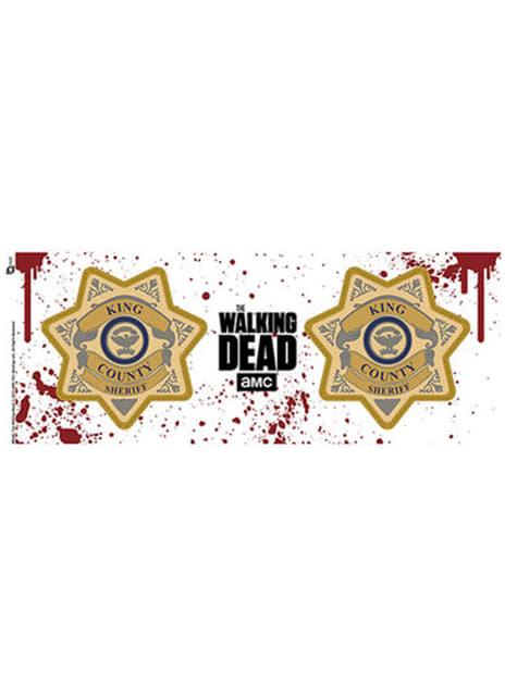 Taza de The Walking Dead Sheriff Badge - oficial